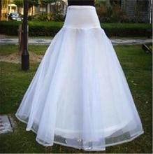 Lace Petticoats 2016 Applique Edge Long Tulle A Line Petticoat for Wedding Dress Prom Cheap Wedding Bridal Underskirt Petticoats