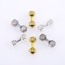 10PCS/ package NEW Metal Beads Wholesale Antique Gold/Silver Dumbbell Charm For Hand made Natural Stone Beading Jewelry Making