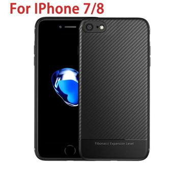 Carbon Fiber Phone Case Shockproof For Iphone7/8 Luxury Cases Ultra Thin Slim Cell Phone Cover Mobile Phone Accessories image
