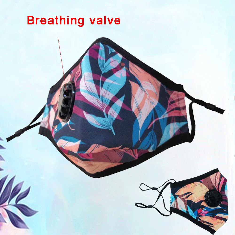 Fashion Printed pattern Mouth Unisex Cotton Breath Mouth Mask Cycling Dust Masks - Respirator Masks Washable Earloop Masks
