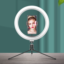 Photography LED Selfie Ring Light 26CM Dimmable Camera Phone Ring Lamp With Tripod Bluetooth remote For Makeup Video Live Studio photography led selfie ring light 26cm dimmable camera phone ring lamp with tripod bluetooth remote for makeup video live studio