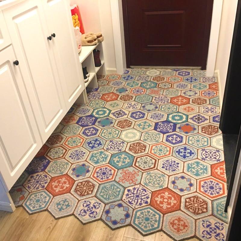 Per la casa in stile Europeo PVC antivegetativa porta tappetino da bagno tappetino antiscivolo in grado di tagliare piede pad tappeto da salotto pavimento della cucina tappeto
