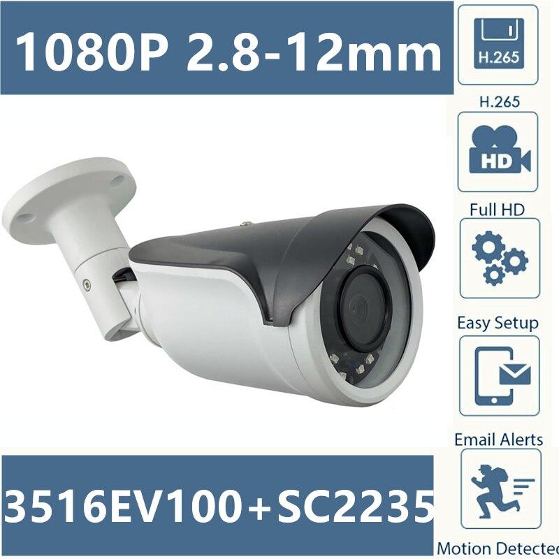 2,8 12 мм Электрический зум объектив Авто Fouce IP Металлическая Цилиндрическая камера видеонаблюдения Открытый 3516E + SC2235 IRC H.265 1080P ONVIF CMS XMEYE P2P RTSP Камеры видеонаблюдения      АлиЭкспресс