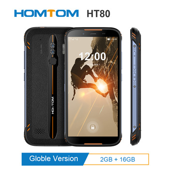 Original HOMTOM HT80 IP68 Waterproof Smartphone NFC function 4G LTE Android 10.0 5.5inch MT6737 Wireless charge SOS Mobile phone
