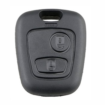 Key Case For Two Buttons Straight No Embryo 206 Key Set Socket Automobile Parts Black Plastic Key Case image