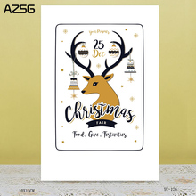 AZSG I love Christmas Clear Stamps For DIY Scrapbooking/Card Making/Album Decorative Rubber Stamp Crafts