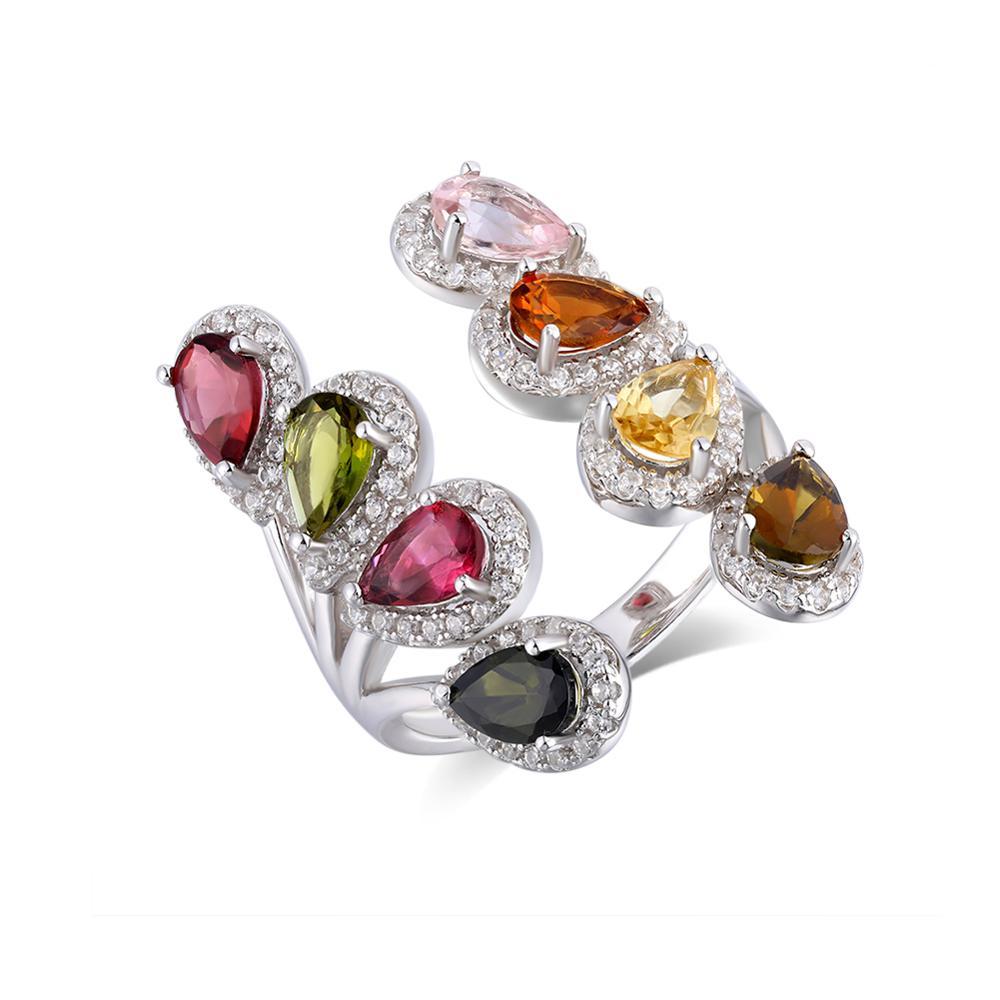 GZ ZONGFA-turmalina Natural para mujer y hombre, diseño de última moda, plata 925, nuevo modelo, joyería fina, anillos de boda