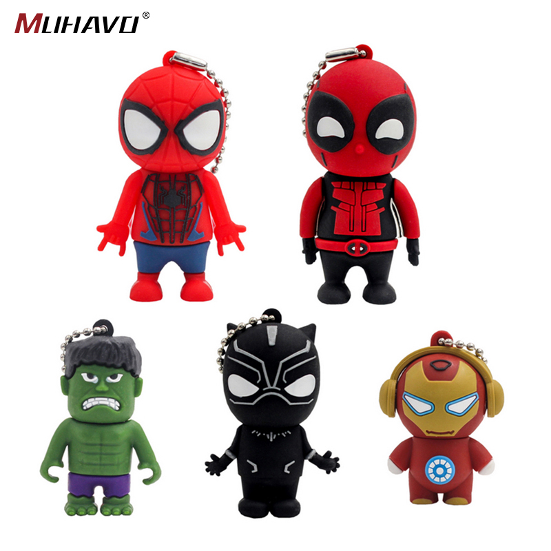 Usb Flash Drive Cartoon Pen Drive 128GB 64GB 32GB Flash Drive 16GB Super Hero Pendrive 8gb 4gb New Usb Stick 2.0 Usb Flash