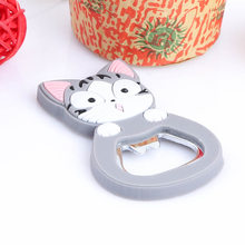 Cute Cartoon multifunction silicone Stainless Steel bottle Cat opener beer fridge openers kitchen tools(China)