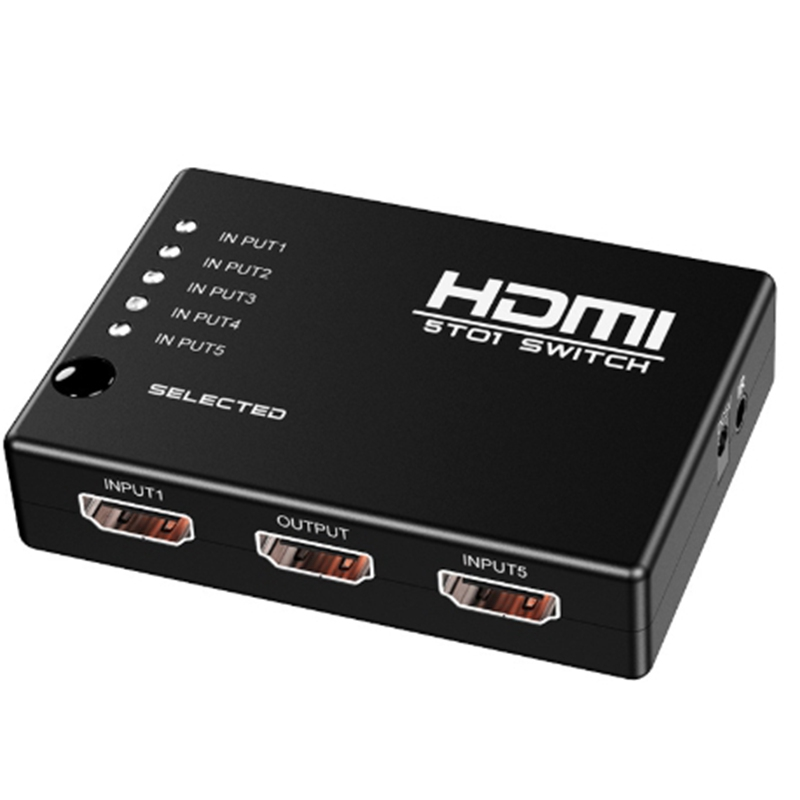HDMI Switcher 5 In 1 Out 1080P Switch HD Video Converter HDMI Switcher For HD-DVD,STV