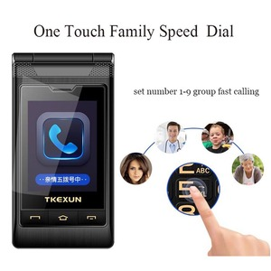 """Image 5 - gift 3.0"""" dual Screen cell phones speed dial one key SOS call FM senior touch mobile phone Russian keyboard button TKEXUN G10"""