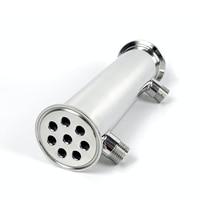 """Pince haute puissance 2 """"OD64mm Dephlegmator, Reflux, distillateur condenseur. 5 entretoises. 8 tuyaux longueur 200mm, acier sanitaire 304"""