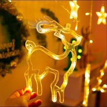 Elk Bell String Light LED Christmas Decor For Home Hanging Garland Christmas Tree Decor Ornament 2019 Navidad Xmas Gift New Year