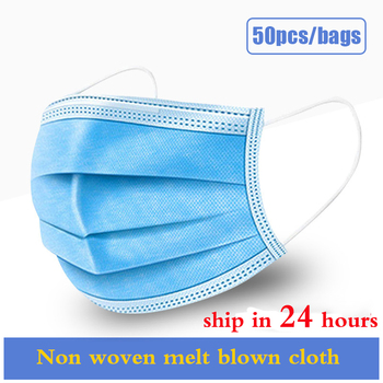 10/50/100pcs Disposable Mask Mouth Mask Anti Fog 3 layers of non-woven melt blown cloth Mouth Mask