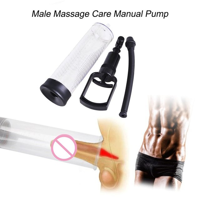 Homme Soins de massage de grande taille 6.5cm Diamètre pompe manuelle pour les hommes Cock Erection Appareil vide Loupe Extender élargissement pompe