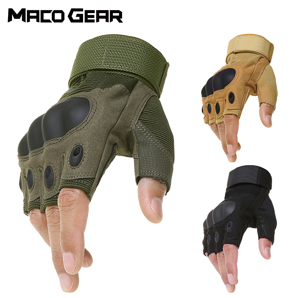 Hiking Outdoor Tactical Fingerless Gloves Military Army Shooting Hiking Hunting Climbing Cycling Gym Riding Airsoft Half Finger Gloves