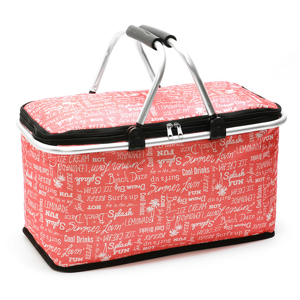 Portable Office Oxford Cloth School Foldable Lunch Bag Heat Preservation Multifunctional Shopping Basket Outdoor Picnic Travel