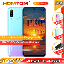 HOMTOM P30 Pro 4GB RAM 64GB ROM Octa Core Mobile Phone 6.41 inch Full Display 13MP Rear Camera Smartphone Fingerprint