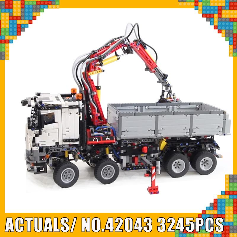 New Style 20005 Truck Car Compatible 42043 Technic Banz Arocs 3245pcs Model Building Bricks Educational Toys Christmas Gift