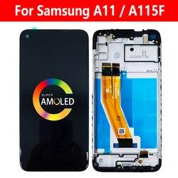 Для Samsung Galaxy A11 2020 ЖК SM-A115F/DS A115F дисплей с рамкой для сенсорного экрана с дигитайзером в сборе Модуль гибкий кабель Замена