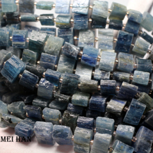 Meihan natural Gravel of Brazil kyanite  9 16*8 9mm(33beads/strand)loose beads for jewerly making design or gift