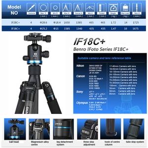 Image 2 - Benro iF18C+ Tripod Carbon Fiber Portable Reflexed Monopod Camera Stand For DSLR Carrying Bag Max Loading 10kg