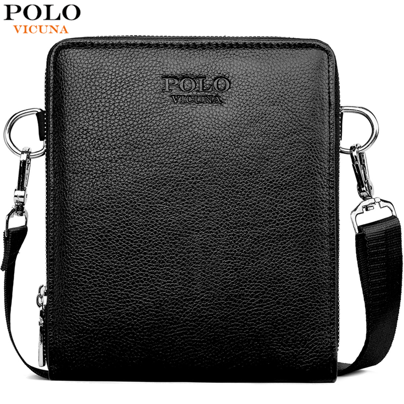VICUNA POLO New Arrival Multideck High Capacity Mens Leather Crossbody Messenger Bag Small Sling Shoulder Bags For Man Wholesale