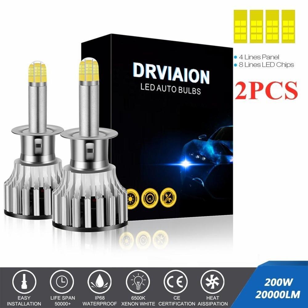 2 шт./компл. 8-по бокам 200W 20000LM 360 Автомобильный светодиодный фар H1 H7 H8/9/11 авто лампа 6500 к фары автомобильные фары лампы h7 светодиодный потолочный светильник