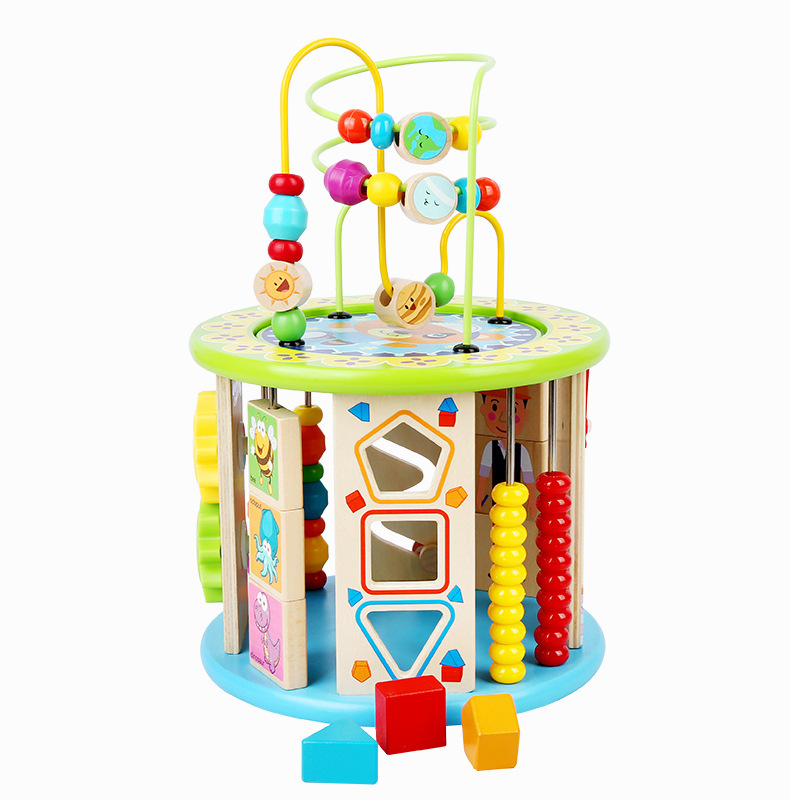 Youdele Bead-stringing Toy Treasure Chest Toy Multi-functional Ten One Educational Beaded Bracelet Bead-stringing Toy Play