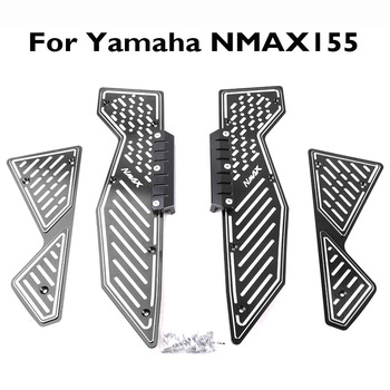 Motorcycle Foodsteps CNC Front Rear Footboard Steps Footrest Foot Plate for Yamaha NMAX155 2017 2018
