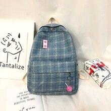 Female Backpack Rucksack Mochilas Schoolbags College Cartoon-Pattern Fashion Cotton Women