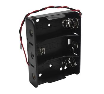 MasterFire 20pcs/lot New Black DIY Storage Box Holder Battery Case 3 Slots C Size 4.5V Batteries Cell Cover with Wires