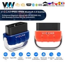 Viecar elm327 bluetooth 5.0 4.0 vp005 vp006 obd carro obd2 wifi diagnóstico pic18f25k80 para android/ios scanner usb odb2 ferramenta de automóvel
