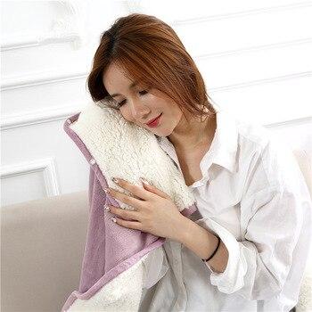 Flannel Blanket Hoodie Travel Totoro Blanket Soft Fuzzy Fluffy Blankets Sweatshirt Solid Winter Warm Fleece TV Blankets for Beds 4