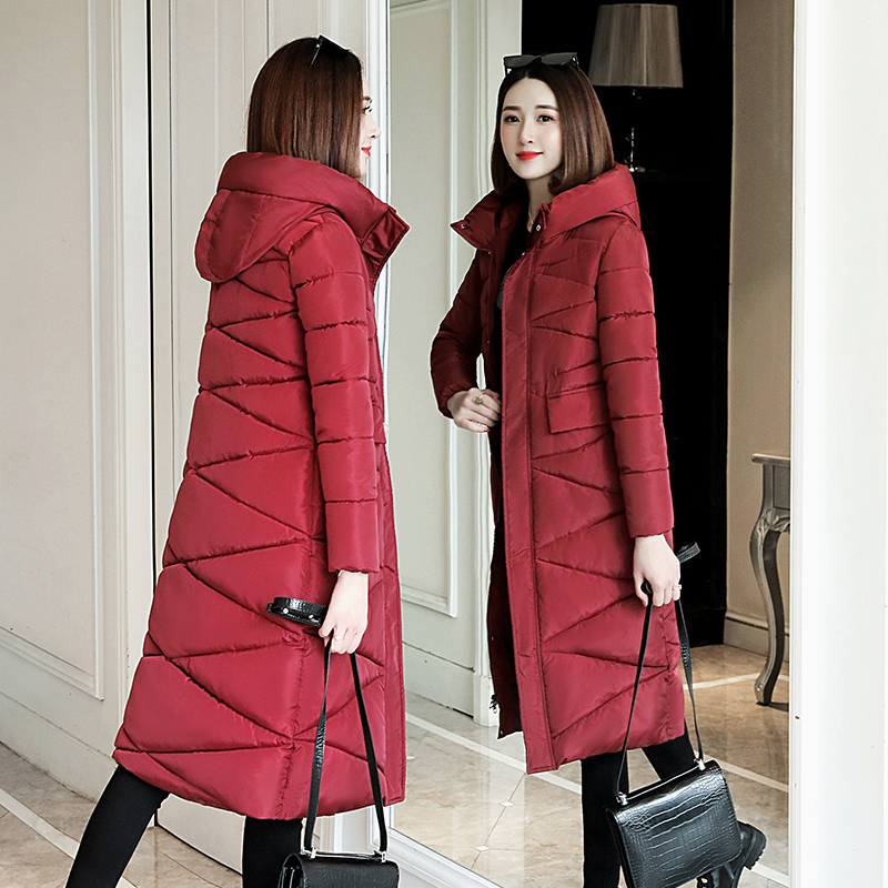 Plus Size 3XL Women Parkas Winter Hooded Warm Coat Slim Cotton Padded Basic Jacket Female Casual