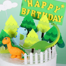 3Pcs/bag  Forest Theme Party Cake Decoration Candy Shower Kids Party Supplies Forest Tree Happy Birthday Cake Topper Cartoon dinosaur theme happy birthday cake topper candy bar baby shower kids party supplies child birthday party cartoon decoration