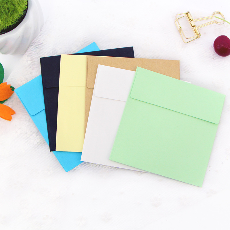 Creative Hipster Colored Envelope Customizable 120G Cai Jiao Zhi Envelope Wholesale-Printing Logo