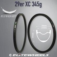 Elite Carbon MTB ขอบ XC AM DH จักรยานขอบ 29er MTB Hookless ไม่สมมาตร 24 27 30 35 40 50 มม. กว้าง 29 มม.ความลึก EMS จัดส่งฟรี