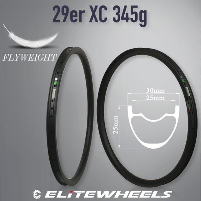 Elite Carbon Mtb Rim XC AM DH Bicycle Rim 29er Mtb Hookless Asymmetric 24 27 30 35 40 50mm Width 29mm Depth Ems Free Shipping