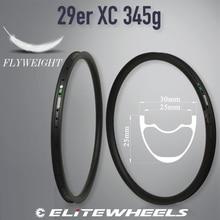 Elite carbono mtb aro xc am dh aro de bicicleta 29er mtb hookless assimétrico 24 27 30 35 40 50mm largura 29mm profundidade ems frete grátis