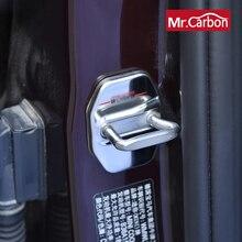 2個ステンレス鋼ドアロックカバーbmwミニjcw coopr F54 F55 F56 F57 F60 R60 R61車装飾修正