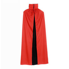 Halloween Double-sides Cool Black Red Death Cloak Masquerade Party Stylish Mysterious Mantle Cosplay Witch Cloak(China)