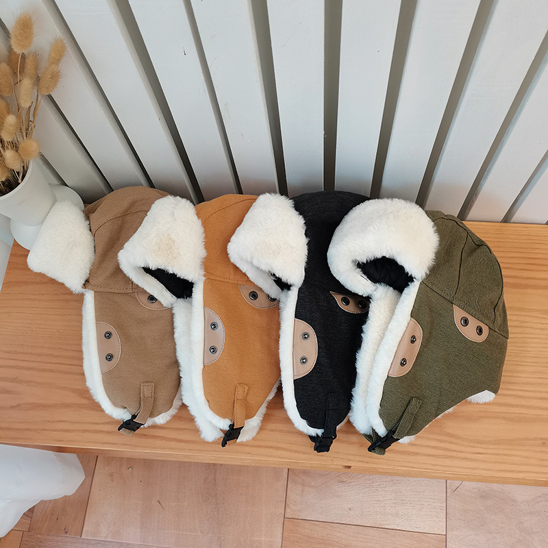 Winter Unisex Women Military Hat Russian Soviet Red Army Cap Plus Velvet Padded Fluffy Hat Biking Cold And Windproof Ear Ski Cap