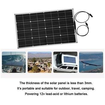 50W/60W/80W Portable Solar Outdoor Charging Board Solar Outdoor Emergency Charging Board