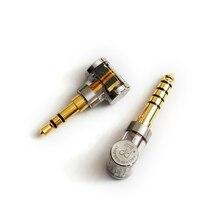 Adaptador de áudio balanceado dd dj35a/dj44a 2.5mm fêmea a 3.5mm trs/4.4 trrrs
