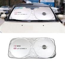 Car Sunshade Sun shade Front Rear For MINI Cooper One S R50 R53 R56 R60 F55 F56 R58 R59 Mini Logo 3D Sticker styling