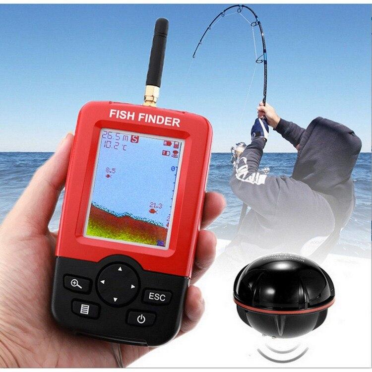 Smart Tragbare Tiefe Fisch Finder mit 100M Wireless Sonar Sensor Echolot Fishfinder für See Meer Angeln Salzwasser
