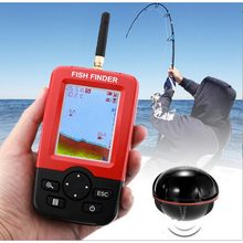 Smart Draagbare Diepte Fish Finder Met 100M Draadloze Sonar Sensor Echolood Fishfinder Voor Lake Sea Fishing Saltwater(China)