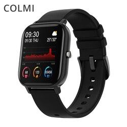 COLMI P8 1.4 inç akıllı saat erkekler tam dokunmatik spor izci kan basıncı akıllı saat kadınlar GTS için Smartwatch Xiaomi