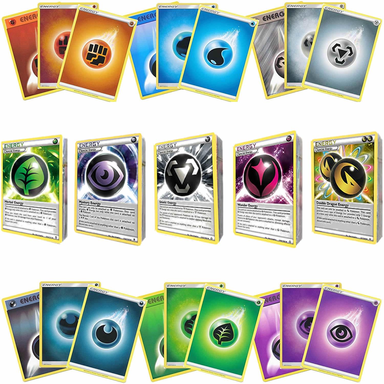 20-60 шт. французская версия карт Pokemon ENERGY GX EX MEGA TAG Сияющие карты игра Боевая коллекция детские игрушки подарок